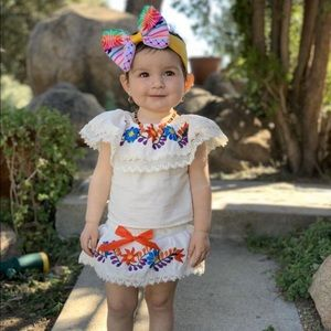 Embroidered Cotton Outfit 12-24 Months Fiesta